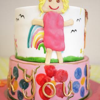 Naive thank you cake