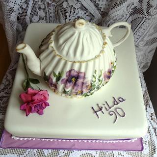90th Teapot Cake