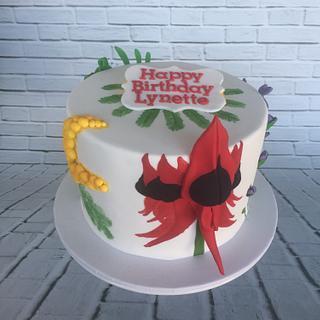 Australian Flora birthday cake