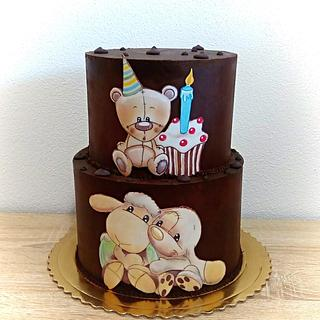Hand painted children´s cake