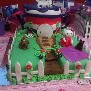 Hello Kitty Garden Theme Cake - Cake by Jeanette Rodriguez