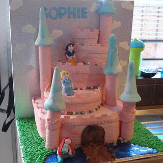 Cute Disney Princess Castle Cake