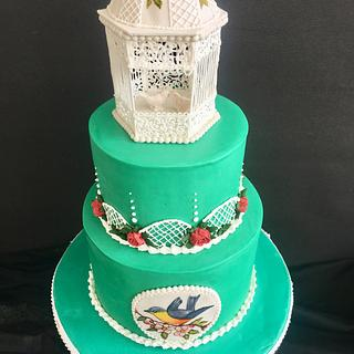Royal icing gazebo cake