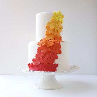 Fall Ombre Cake
