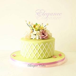 Moroccan lattice cake