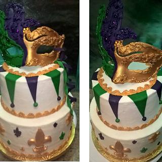 Mardi Gras Cake - Cake by Ms. Shawn