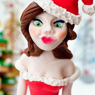 Santa Claus' daughter - Cake by Sara Russo