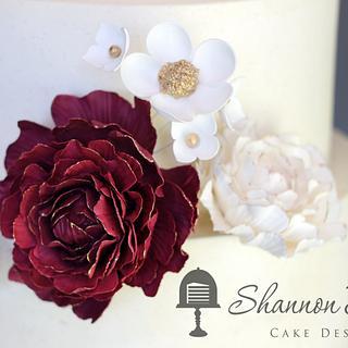 Sugar Blossoms Wedding Cake