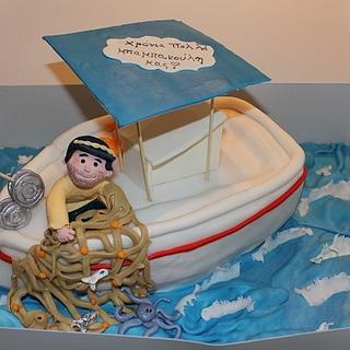 Cake for friend fisherman Perkas - Cake by Petra Florean