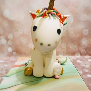 Rainbow unicorn cake plus more