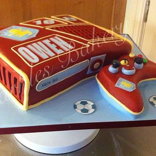 Aston villa themed Xbox
