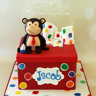 A Monkey & His Present - Cake by AlwaysWithCake