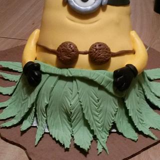 Minion - Cake by livelongandeatcake