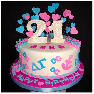 Delta Gamma Girl's 21! - Cake by Gias Cakes (by Samantha)