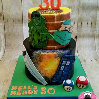 Nerdy 30 Birthday Cake
