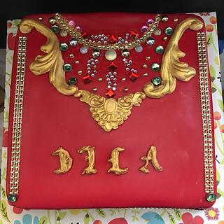Caftan design cake