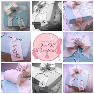 Tiffany gift box cake - Cake by OneOffOccasions