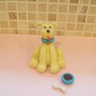 Fondant Labrador Pup - Cake by Lisa
