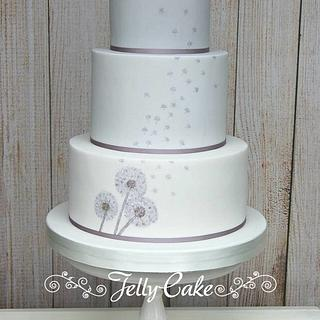 Dandelion Wedding Cake