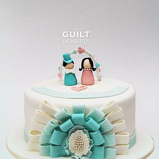 Ribbon Anniversary Cake