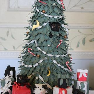 Christmas Tree Wedding Cake.
