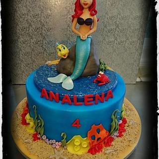 Ariel Mermaid Birthday Cake