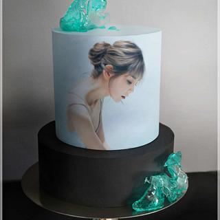 silence  - Cake by KamilaAdamaschek