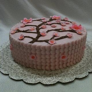 Plum/Cherry Blossom - Cake by Dawn Henderson