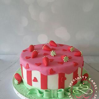 Strawberry party - Cake by SpecialtycakesNL