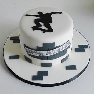 18th Birthday skateboarding cake