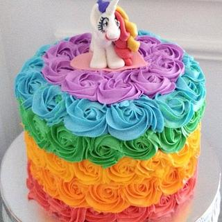 Rainbow Pony Cake!