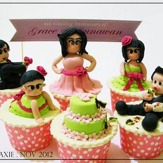 Wedding Anniversary Crasher - Cake by Diana