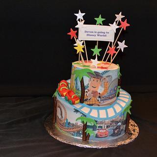 Disney roller coaster cake