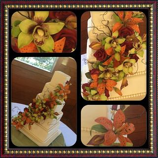 Gumpaste flowers galore - Cake by Kerri Morris