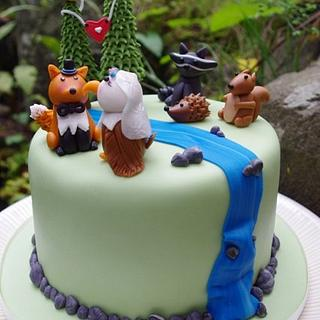Forest Friends Cake.