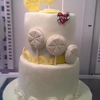 Lemon & Key Lime Slice Cake