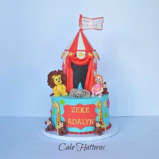 Circus Themed Birthday Cake - Cake by Donna Tokazowski- Cake Hatteras, Hatteras N.C.