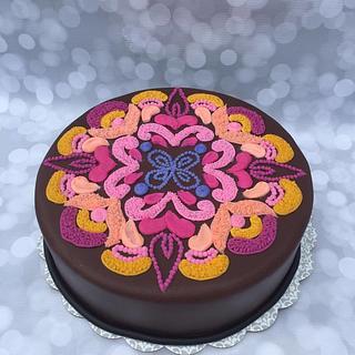 Buttercream Piped Cake :)