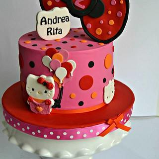 Hello Kitty Bow Cake