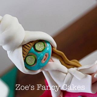 Pamper party cake