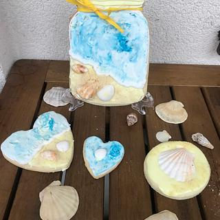 Sea cookies with orange flavour