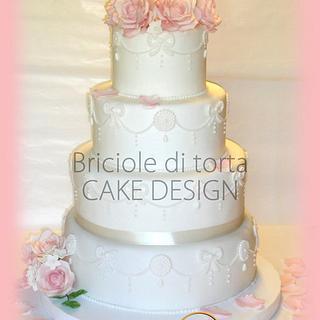 Wedding in rose - Cake by BRICIOLE DI TORTA di MARIA SILVIA CHECCACCI