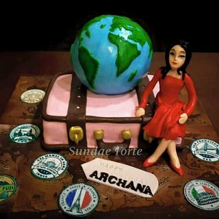 A Travelogue Cake