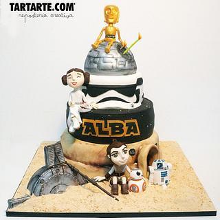 Star wars mini fan cake