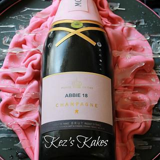 Moet and Chandon Pink Champagne Bottle