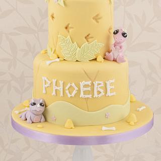 Girls Baby Dino Cake - Cake by Little Cherry