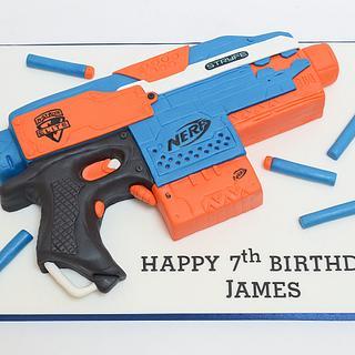 Nerf Gun - Cake by The Chain Lane Cake Co.