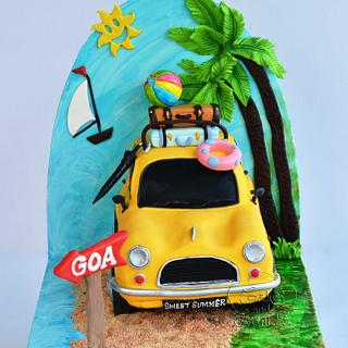 Sweet summer car cake