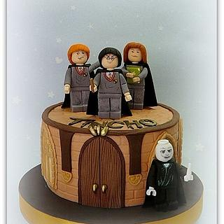 Lego Harry Potter cake
