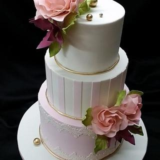 Shades of pink - Cake by Danielle George-John